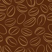 Padrão sem emenda com grãos de café — Vetorial Stock