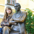 Photos from the monument to Mikhail Bulgakov on Andrew's descent in Kiev — Stock Photo #19236663