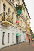 The varied architecture of the city of Minsk. From socialism to Catholicism. — Stock Photo