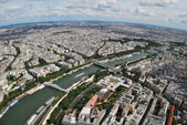 View of the areas of Paris with Eiffel Tower — Stock Photo