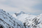 Mountain View from the ski resort of Bansko in Bulgaria — Stock Photo