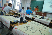 çin üniversitesi'nde ders çince yazıları — Stok fotoğraf