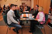 A job fair for graduates MPEI — Stock Photo