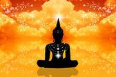 Socha buddhy v nebi — Stock fotografie