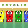 Stock Photo: Recycle bins