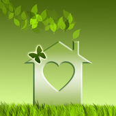 Ecological home — Stock Photo