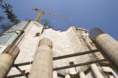 Under construction of Sagrada Familia in Barcelona — Stock Photo