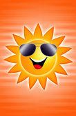 Sun in summertime — Stock Photo