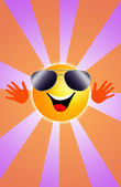 Sun with sunglasses — Foto Stock