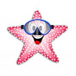 Stock Photo: Starfish with snorkel mask