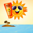 Sun with sun lotion — Stock Photo #27566685