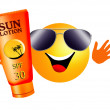 Sun with sun lotion — Stock Photo #27566831