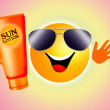 Sun with sun lotion — Stock Photo #27567121