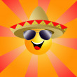 Stock Photo: Sun with sombrero