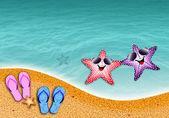 Starfish in love — Stock Photo