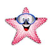 Starfish with snorkel mask — Stock Photo