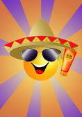 Sonne mit sombrero — Stockfoto