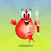 Spuit voor bloeddonatie — Stockfoto
