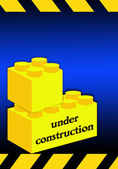 Under Construction with legos — Stock Photo