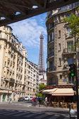 Eine straße in der stadt paris — Stockfoto