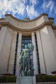 Statue at the Palais de Chaillot — Stock Photo