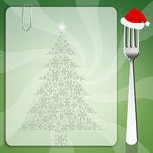 Christmas menu — Stock Photo