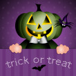 Happy Halloween With Pumpkin — Stockfoto