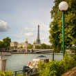 Stock Photo: View of Seine river