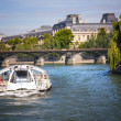 Stock Photo: Navigation on Seine river