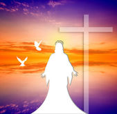 Jesus Christ at Sunset — Stock Photo