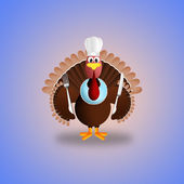 Turkey cartoon for Thanksgiving — Stock Photo