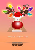Reindeer with colorful lights — Stock Photo