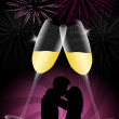 Couple celebrating New Year — Stock Photo
