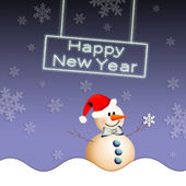 Snowman for Happy New Year — 图库照片