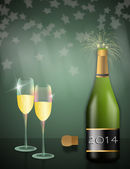 Toast to celebrate the new year — Stock Photo