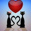 Two cats in love — Stock Photo #38754241