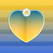 Heart with daisy — Stockfoto