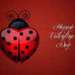 Ladybug for Valentine's Day — Stock Photo #38906363