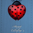 Ladybug for Valentine's Day — Stock Photo #38906779