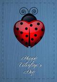 Biedronka na Walentynki — Zdjęcie stockowe