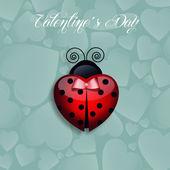 Ladybug for Valentine's Day — Stock Photo