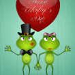 Two frogs in love — Stock Photo #39376661