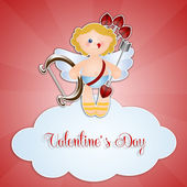 Cupid On Cloud For Valentine's Day — Stock Photo