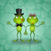 Two frogs in love — Stock Photo