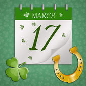 Calendar for St. Patrick's Day — Stock Photo
