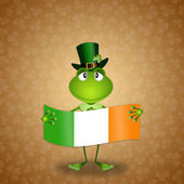 Frog with Ireland flag — Stock Photo