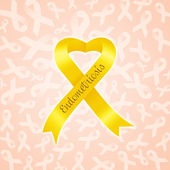 Yellow ribbon for Endometriosis — Stock Photo