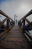 Embark bridges for gondolas in Venice — Stock Photo