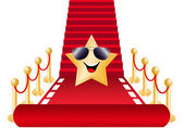Star on Red carpet for Oscars award — Stock Photo