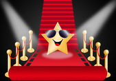 Star On Red Carpet — Stock Photo